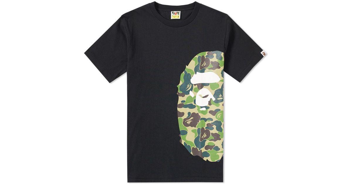 f6795611 A Bathing Ape Abc Camo Side Big Ape Head Tee in Black for Men - Lyst