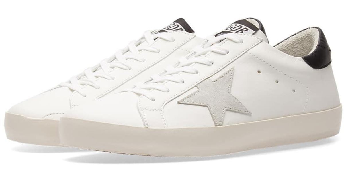 premium selection 4f1e9 4659a Lyst - Golden Goose Deluxe Brand Superstar Clean Leather Sneaker in White  for Men