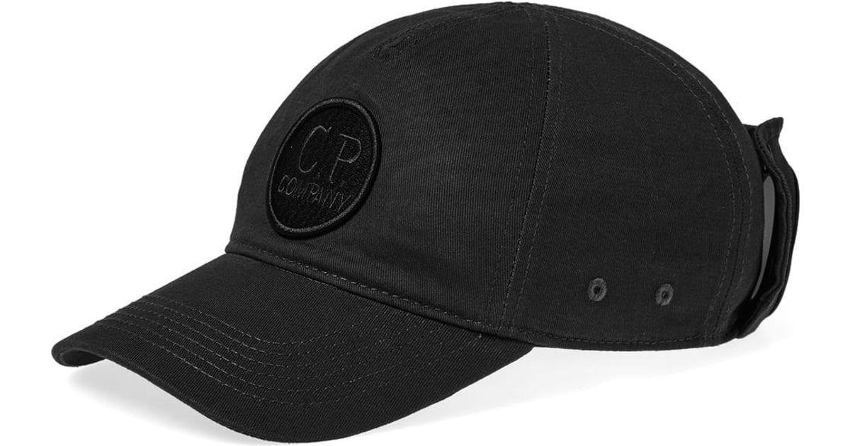 C P Company Goggle Baseball Camp Cap in Black for Men - Lyst 3ca117b0fb9