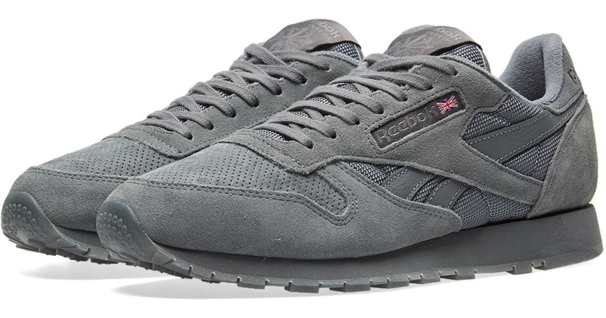 fc18b868eea Reebok Classic Leather Sm in Gray for Men - Lyst