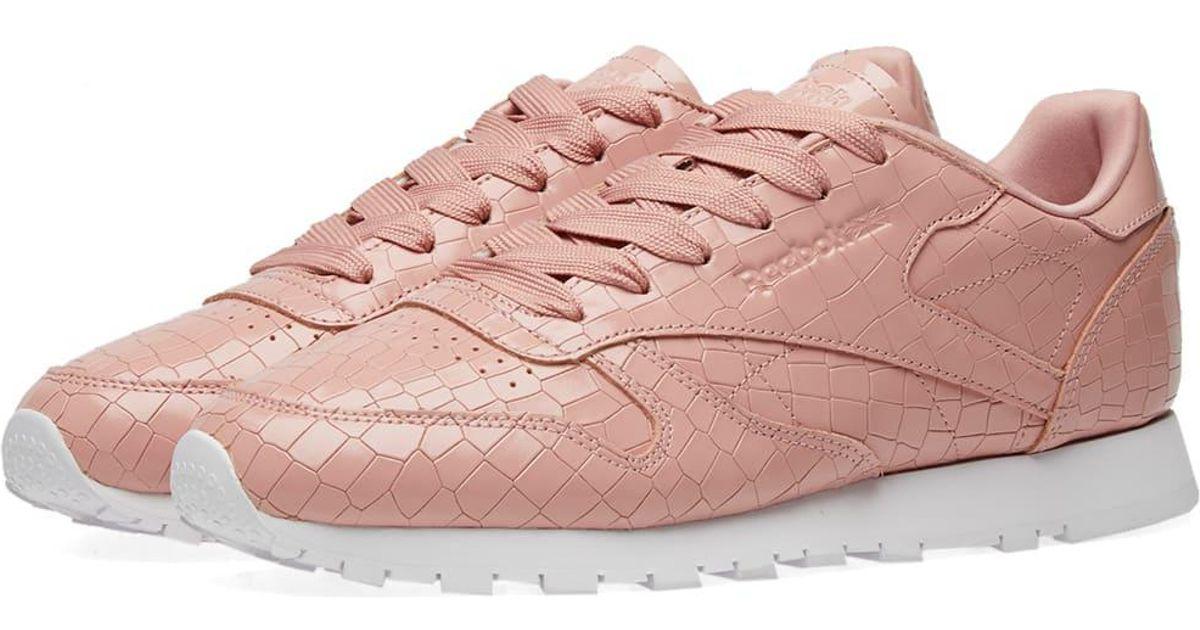 cf3490f3a1010 Reebok Classic Crackle W in Pink - Lyst