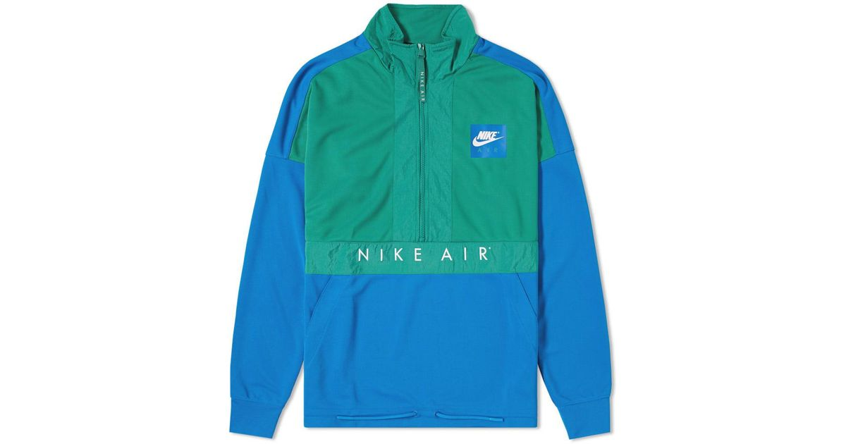 782396fa8198 Nike Half Zip Air Jacket in Green for Men - Lyst