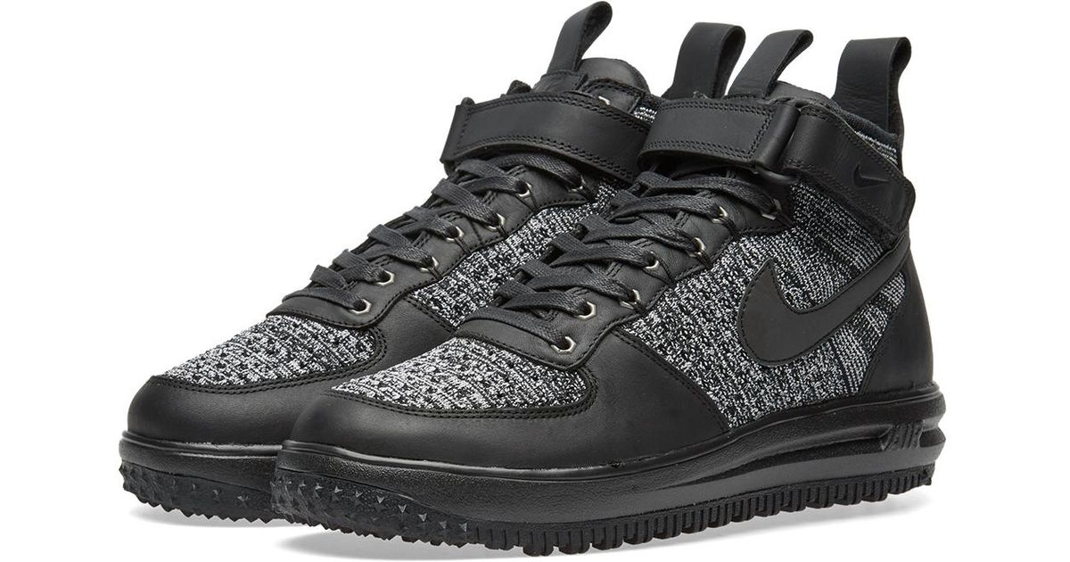 new product c3274 e4659 Lyst - Nike W Lunar Force 1 Flyknit Workboot in Black for Men