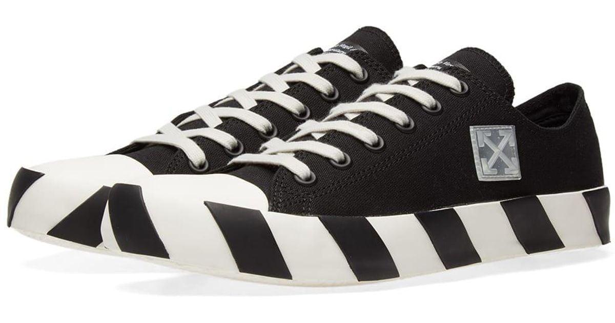 Lyst - Off-White c o Virgil Abloh Stripe Low Sneaker in Black 82f152a39d6a