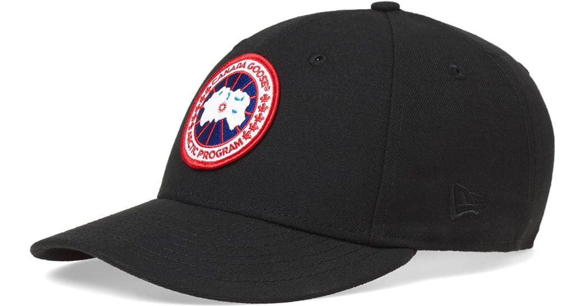 c68c196b081 ... sale lyst canada goose new era hat in black for men f7d3d 7cd33