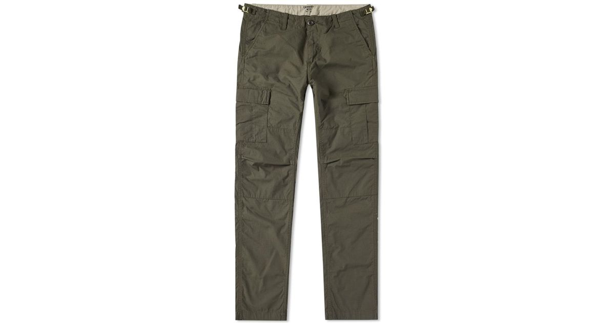 lyst carhartt wip aviation pant in green for men. Black Bedroom Furniture Sets. Home Design Ideas