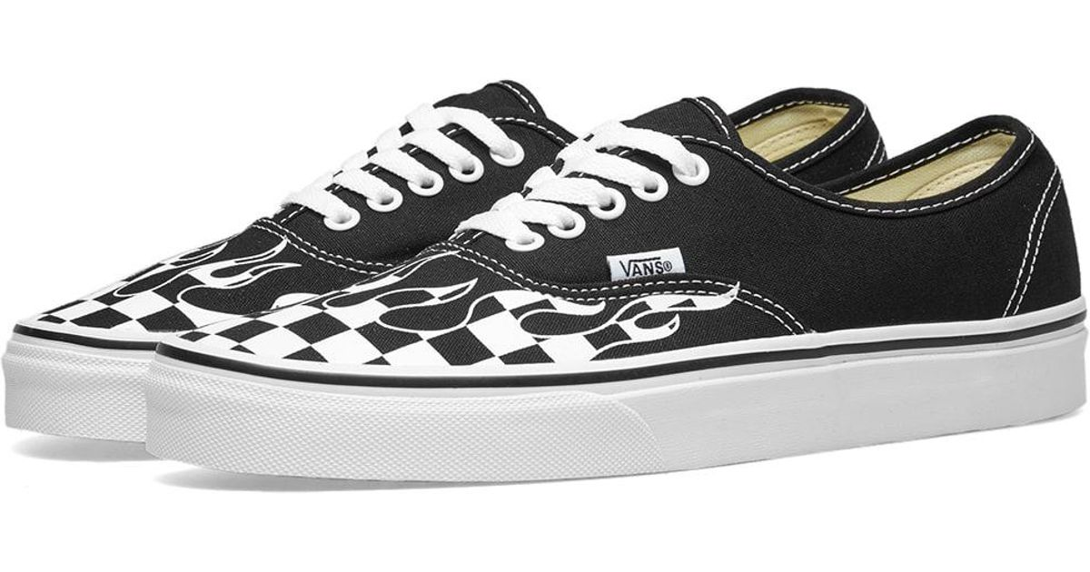 Lyst - Vans Authentic Checker Flame in Black for Men - Save 45% 7bebd22f9