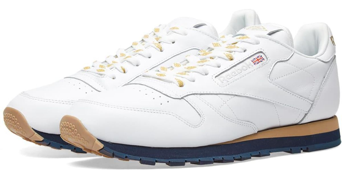 88a83c3d1f96 Lyst Reebok X Beams Clic Leather In White For Men