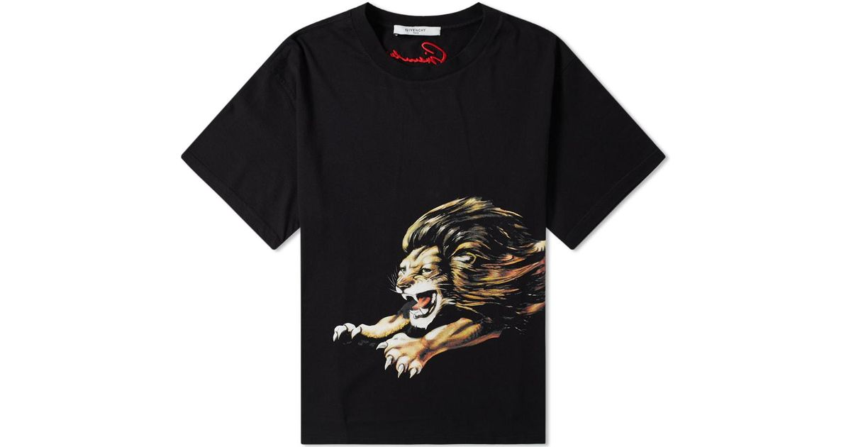 d4ab4b1ef06c1 Lyst - Givenchy Leo Tee in Black for Men
