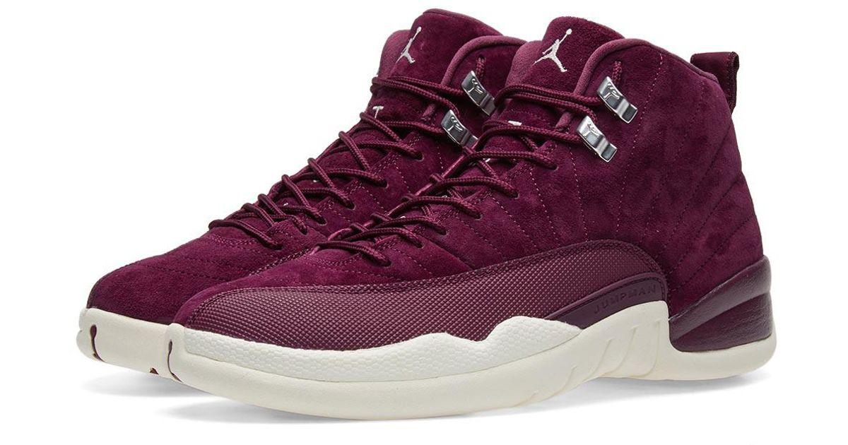 Lyst - Nike Nike Air Jordan 12 Retro  bordeaux Winter  in Purple for Men d9381eee6