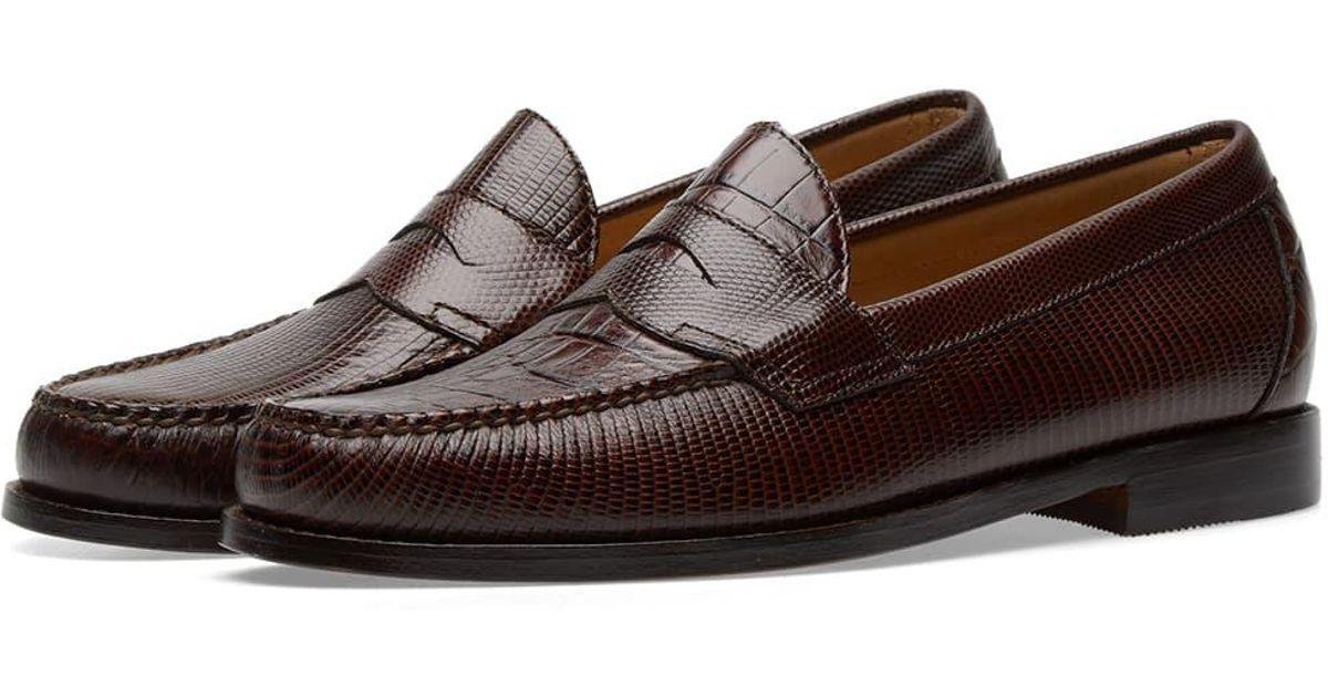 c3ebd64081c Lyst - Engineered Garments X Weejun Logan Croc Penny Loafer in Brown for Men