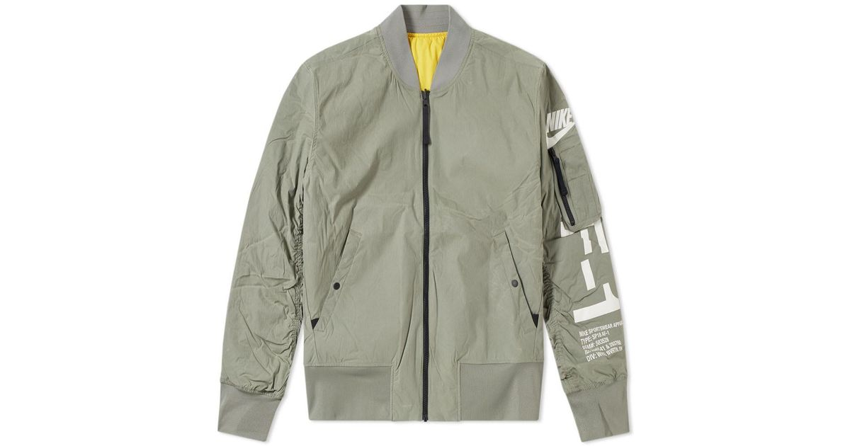 Air 1 Nike Men For Jacket Green Reversible Lyst Force bgYf6y7