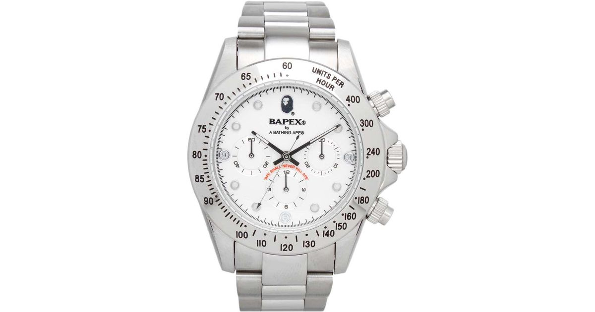 b28c951fb31c Lyst - A Bathing Ape Type 3 Bapex Watch in Metallic for Men