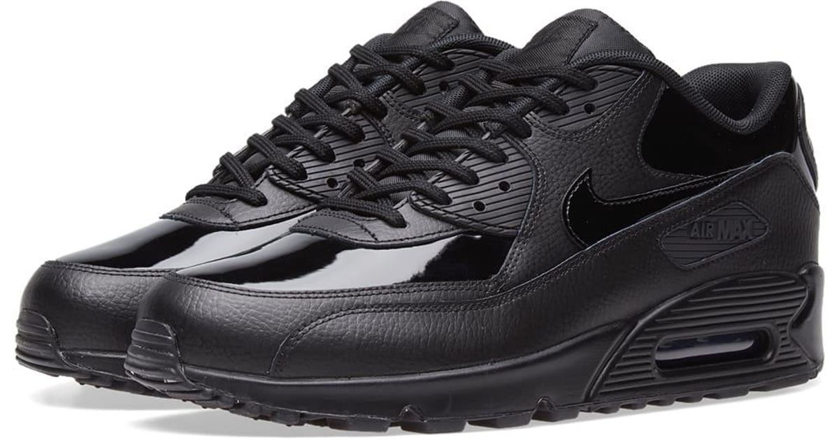 on sale 9ce2f 559de ... football shoes  Lyst - Nike Air Max 90 Patent Leather W in Black for Men  ...