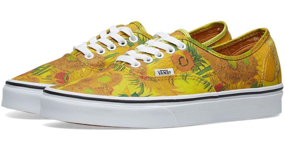 0a526df158 Lyst - Vans X Vincent Van Gogh Authentic in Yellow