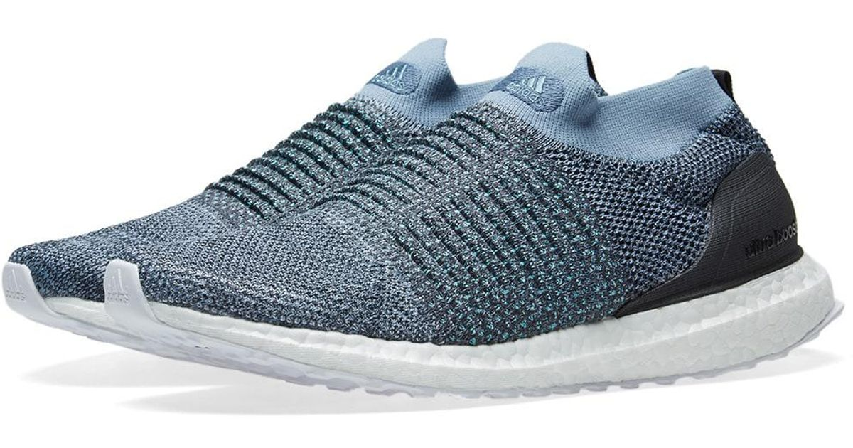 100% authentic b0b59 f80dc Adidas - Blue Ultra Boost Laceless Parley for Men - Lyst