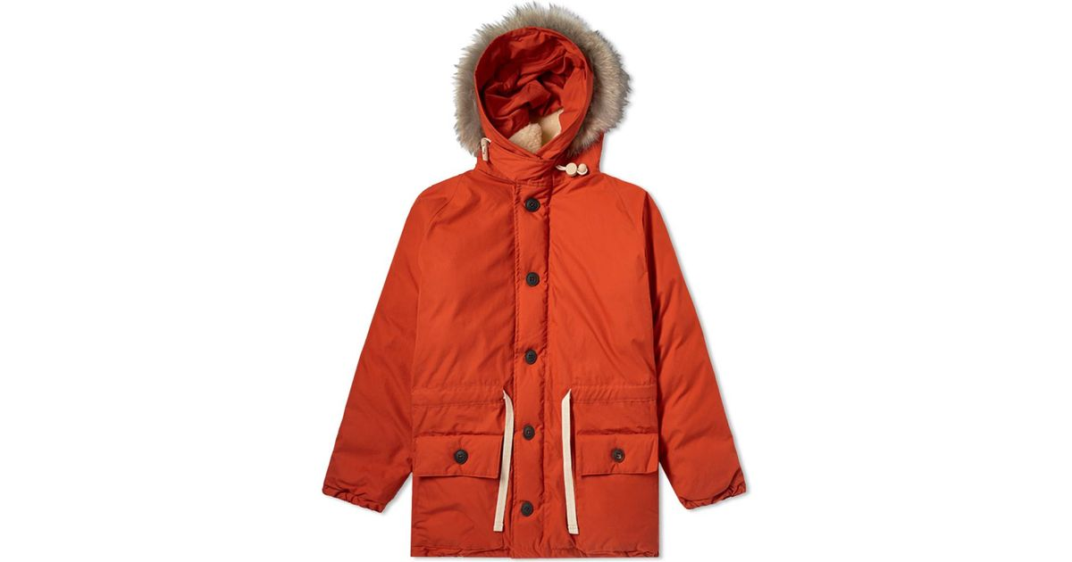 5a3905122b11 Nigel Cabourn Authentic Everest Parka in Orange for Men - Lyst