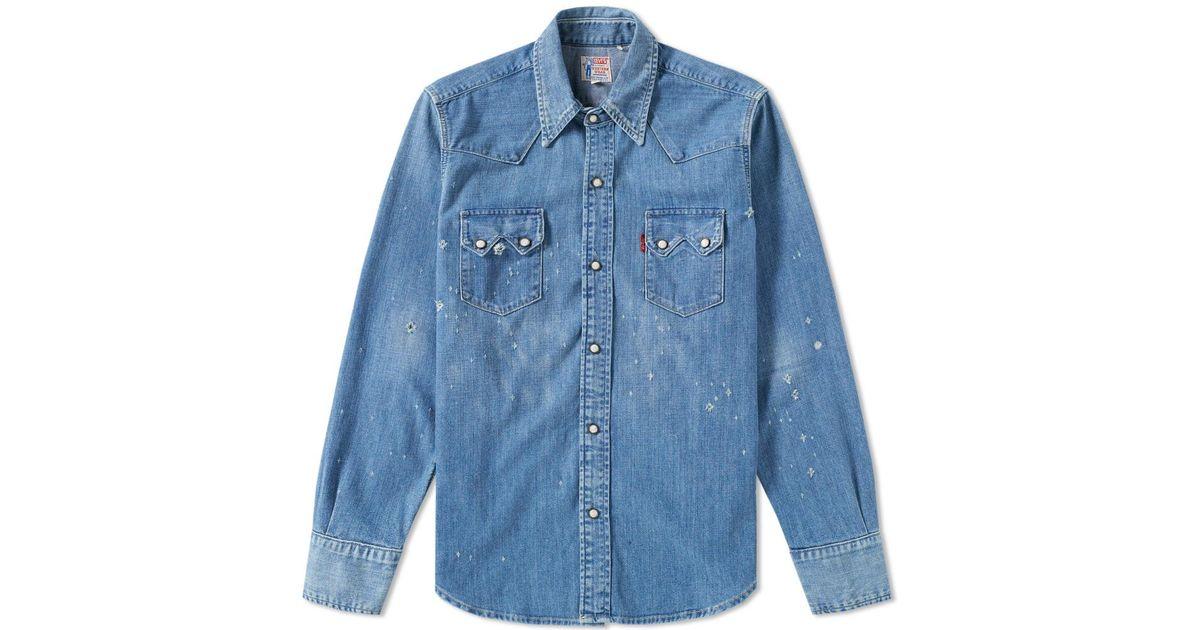 565990eea1 Lyst - Levi s Levi s Vintage Clothing 1955 Sawtooth Denim Shirt in Blue for  Men
