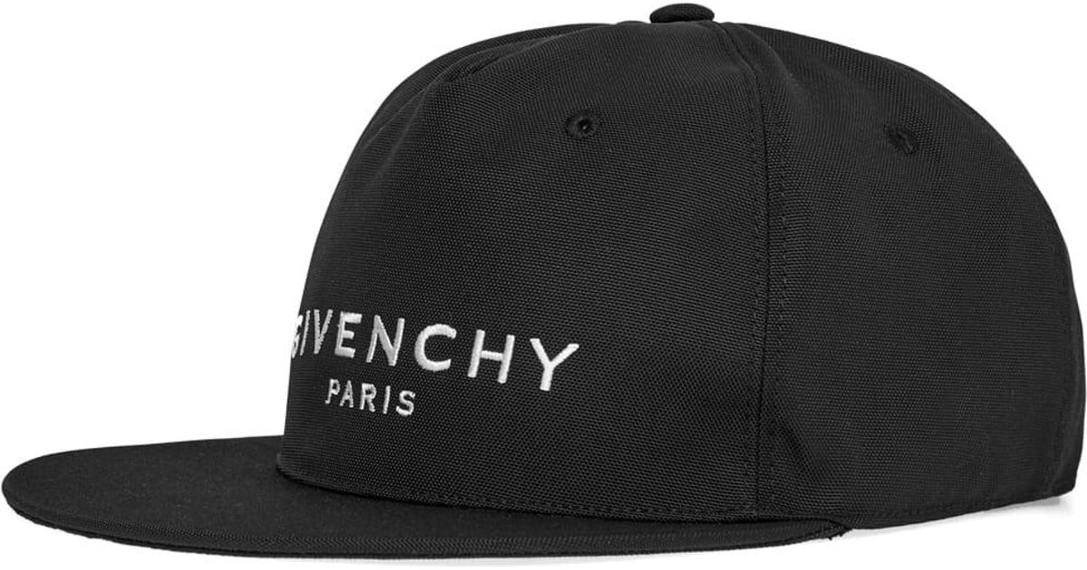 0581b479392 Givenchy Classic Logo Cap in Black for Men - Lyst