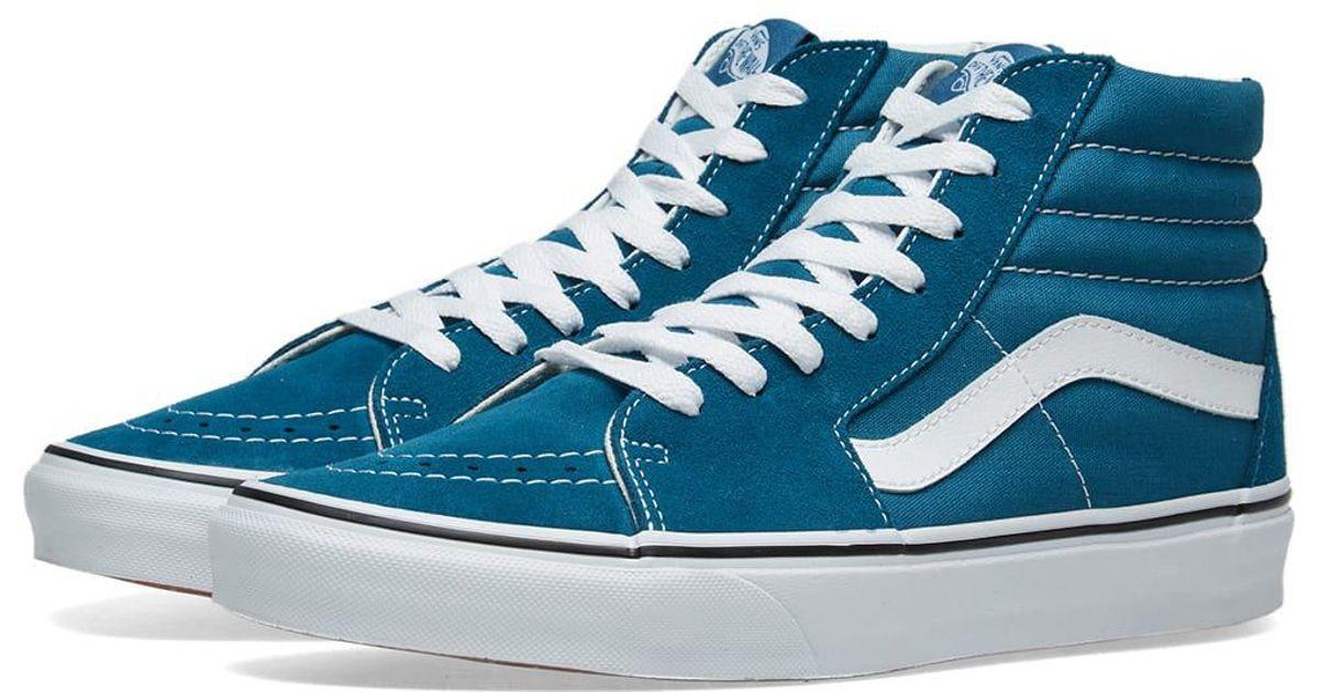 a64c9ac00b Lyst - Vans Sk8-hi in Blue for Men