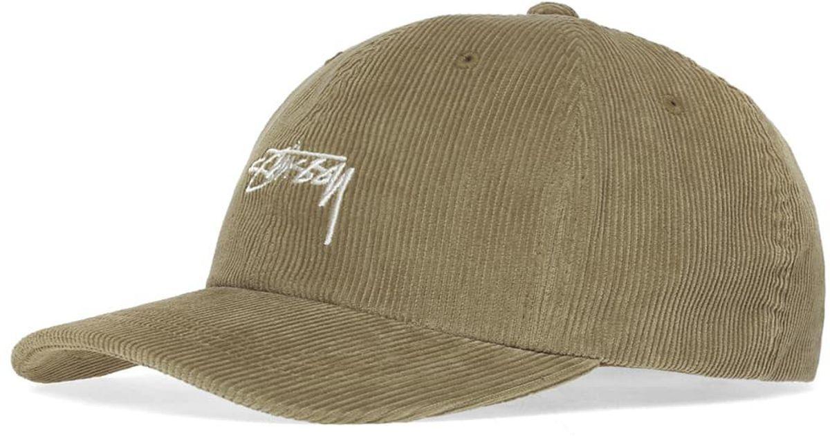 eacc7b687971 Stussy Corduroy Low Pro Cap in Green for Men - Lyst