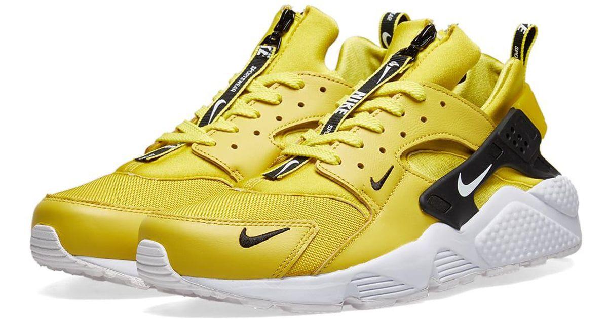 new style 1d1e8 39060 Nike Air Huarache Run Premium Zip in Yellow for Men - Save 38% - Lyst