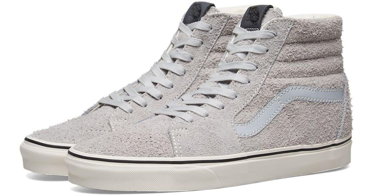 ff98ffe670 Lyst - Vans Hairy Suede Sk8-hi in Gray for Men - Save 20%
