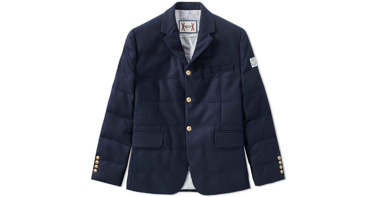397da766b3a9 Lyst - Moncler Gamme Bleu 3 Button Down Blazer in Blue for Men