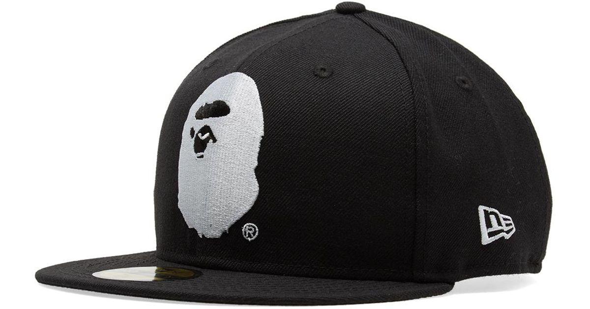 Lyst - A Bathing Ape New Era Ape Head Cap in Black for Men 37a8bf8997f
