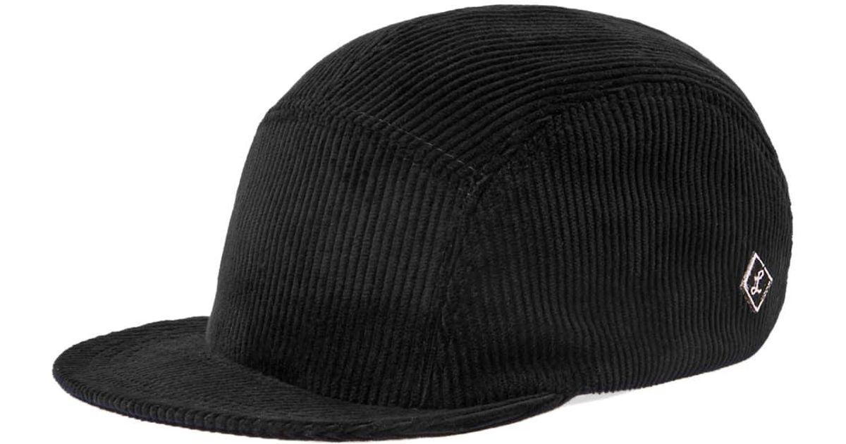 778f0f3e504af Larose Paris Corduroy 5-panel Cap in Black for Men - Lyst