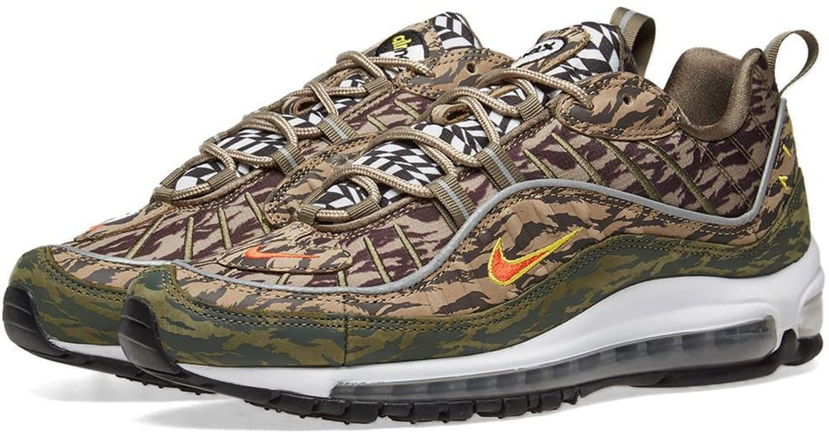 3af1f119fc Nike Air Max 98 'camo' in Green for Men - Lyst