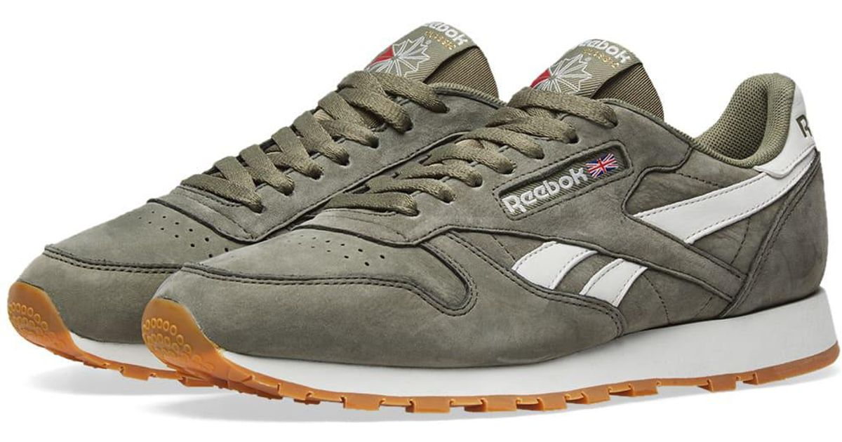 Reebok Green Classic Leather Tl for Men Lyst