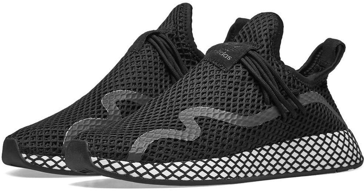6bcc2ef308828 adidas Deerupt S Runner in Black for Men - Lyst