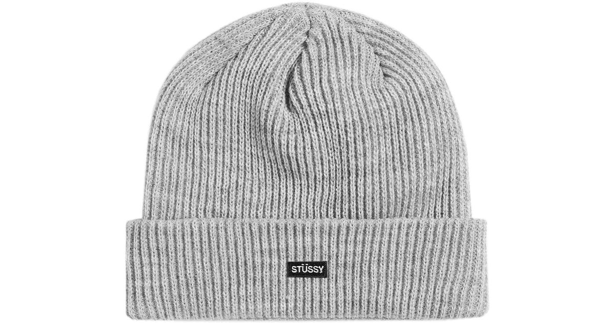 Stussy Watch Beanie in Gray for Men - Lyst a238ed96f2e5