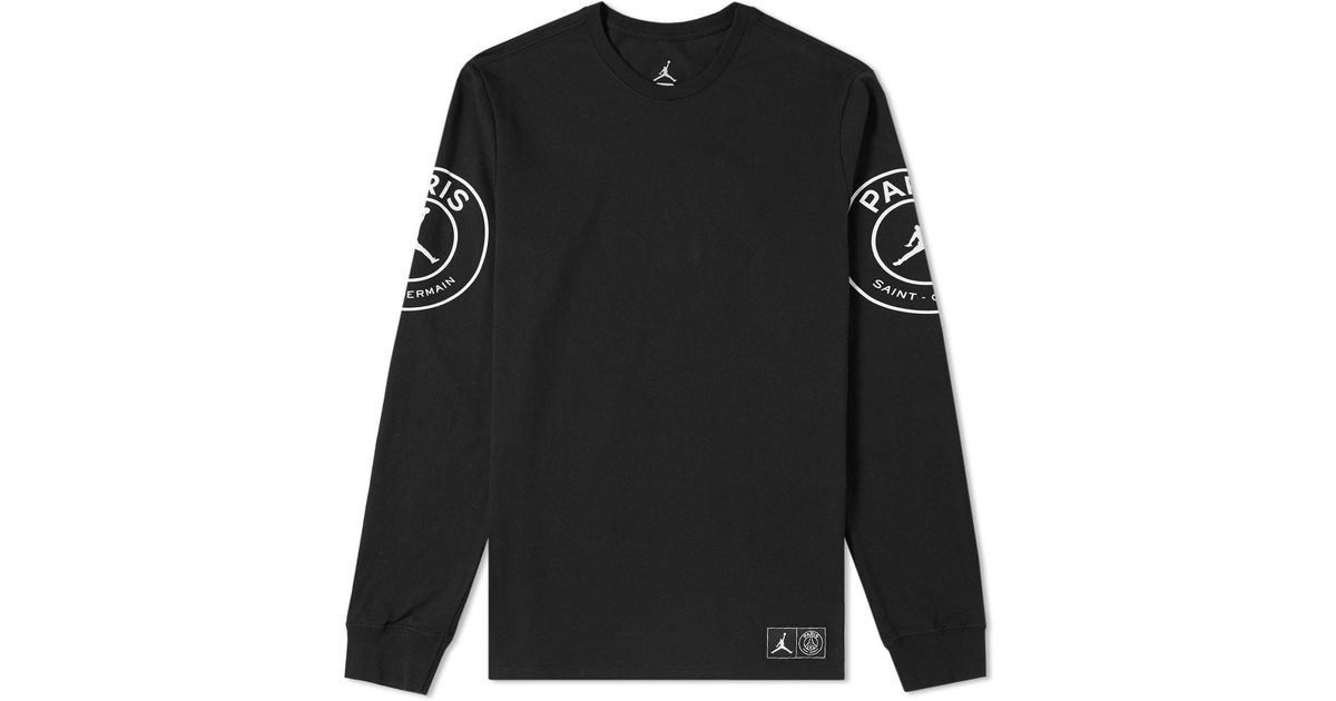 1273aa3a Nike Jordan X Paris Saint-germain Long Sleeve Tee in Black for Men - Lyst