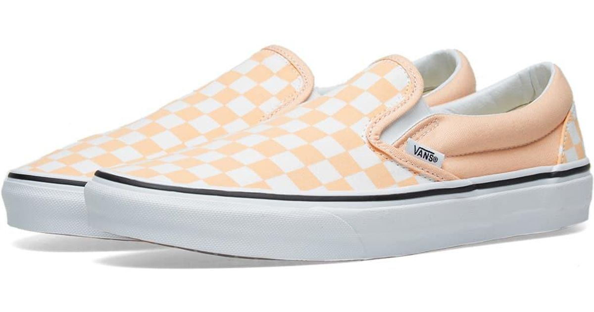 Vans Classic Slip On Checkerboard in Orange for Men - Lyst d2467ba0b