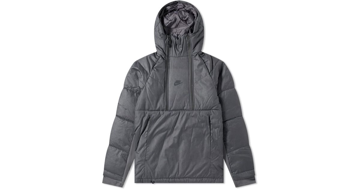 8bdfe4277a Nike Tech Pack Down Popover Jacket in Gray for Men - Save 36% - Lyst