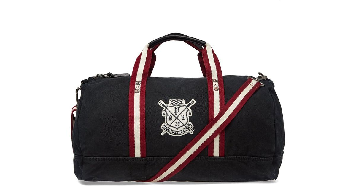98d7d3bf8d Polo Ralph Lauren Rowing Club Embroidered Holdall in Black for Men - Lyst