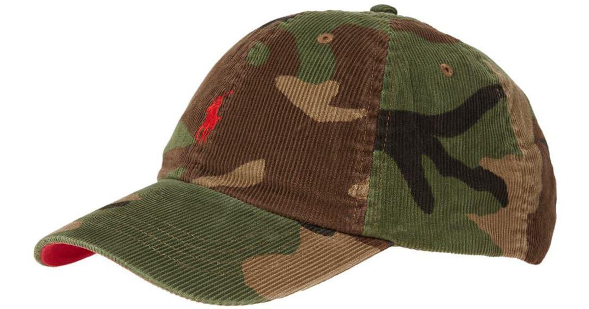 Lyst - Polo Ralph Lauren Corduroy Cap in Green for Men aae349d4c4b3