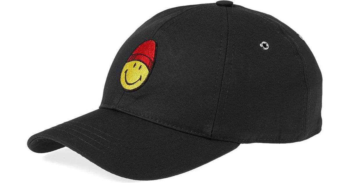 ebd38dc9f3b AMI Smiley Baseball Cap in Black for Men - Lyst