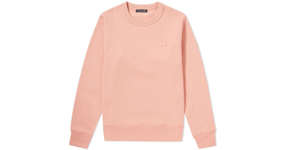 Lyst - Acne Fairview Face Crew Sweater in Pink for Men