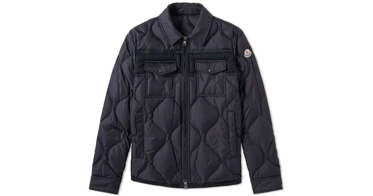 8a3765f85 Moncler - Black Stephan Shirt Jacket for Men - Lyst