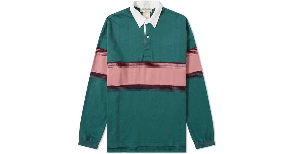 ab4b6bc7 Remi Relief Stripe Rugby Shirt In Green For Men Lyst