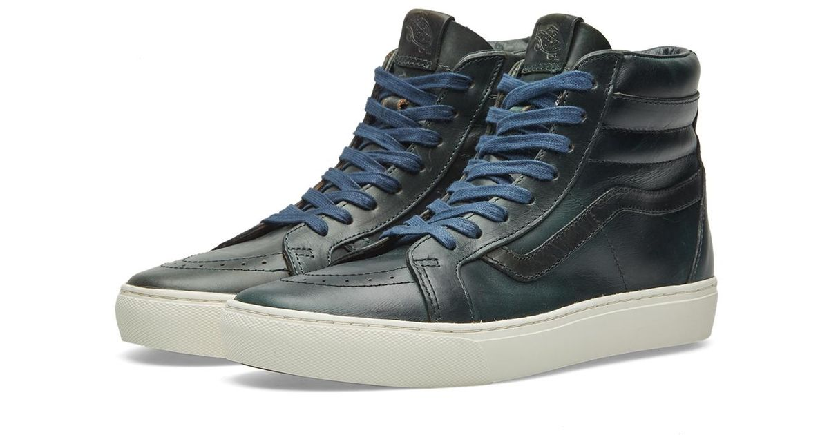 5c2b9f360de646 Lyst - Vans X Horween Leather Co. Sk8-hi Cup Lx in Blue for Men