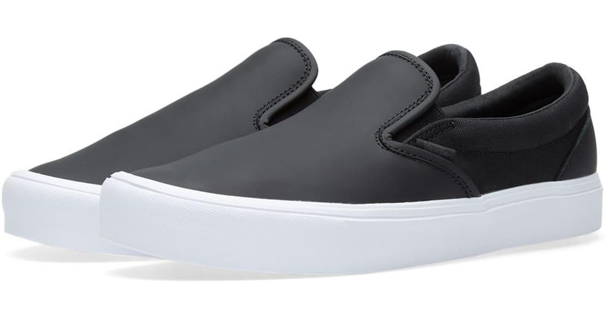 7f1bd0f1a78b50 Lyst - Vans X Rains Slip On Lite in Black for Men