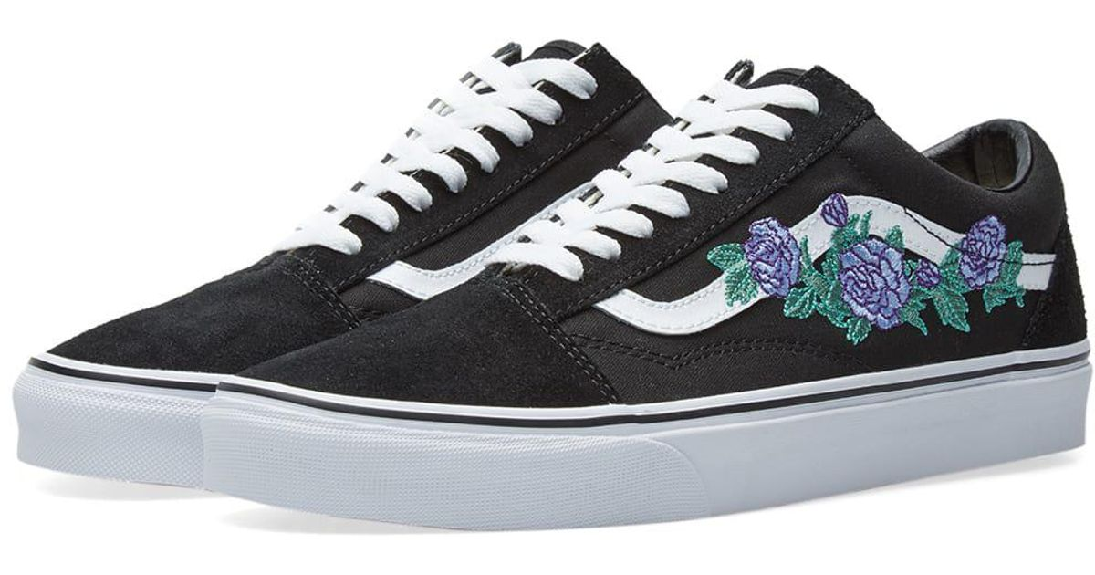 vans old skool rose thorns