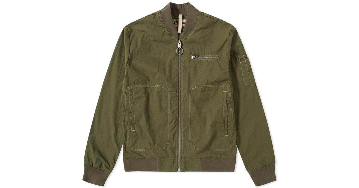 fa5eddb0b51d Nigel Cabourn Lybro Rats Bomber Jacket in Green for Men - Save 21% - Lyst