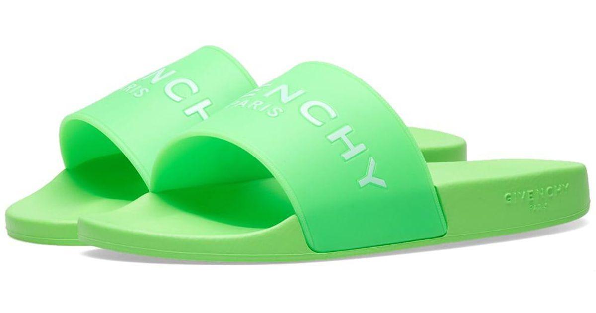 1c9ba5dfbfc6 Givenchy Paris Slides in Green for Men - Lyst