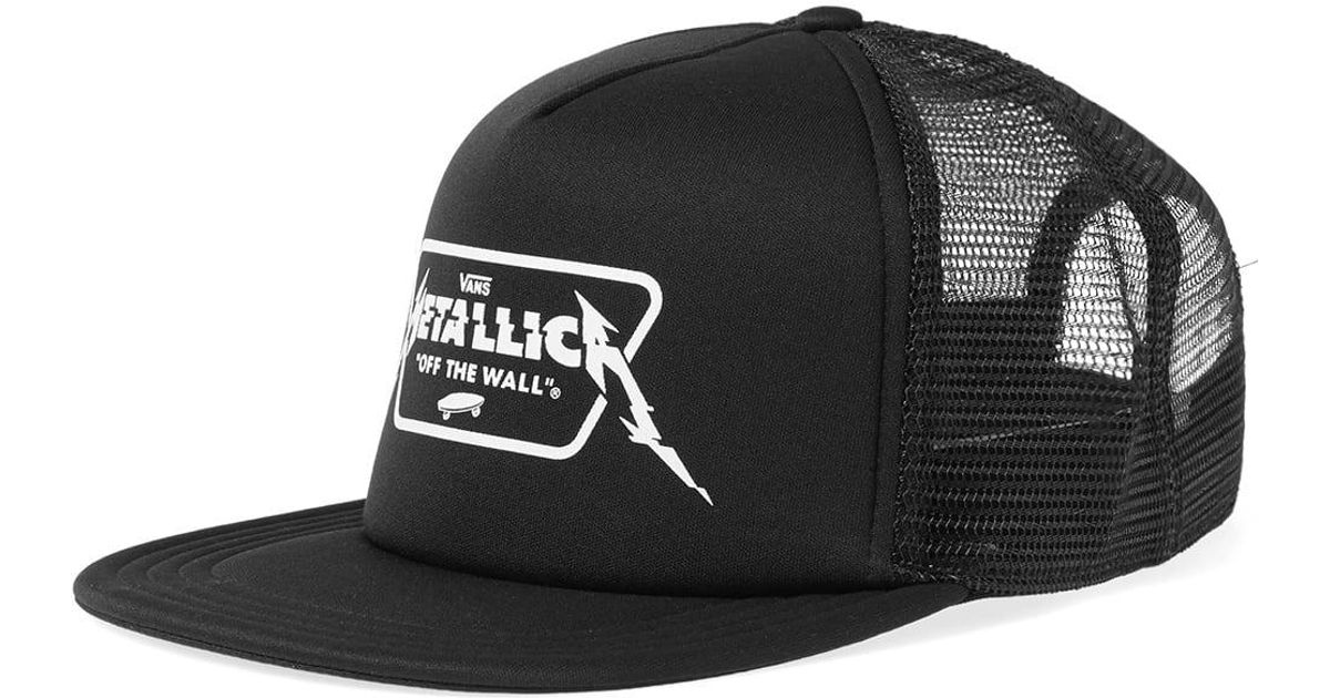 Lyst - Vans X Metallica Trucker Cap in Black for Men 7a1c0d435213