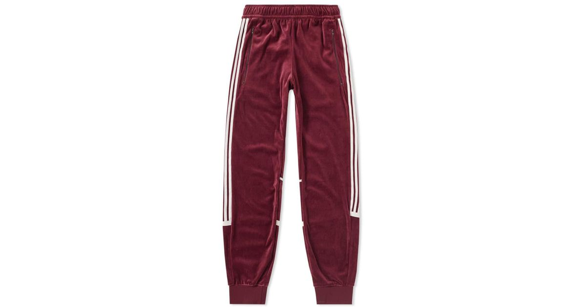 Adidas Red Velour Challenger Trackpant for Men Lyst